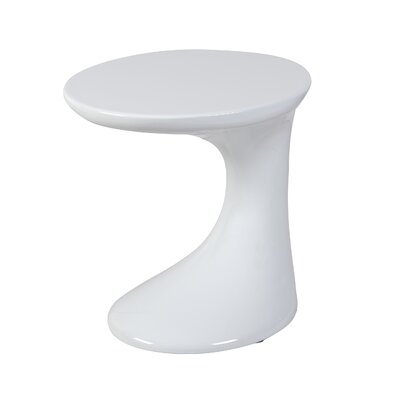 Kai End Table Finish: White