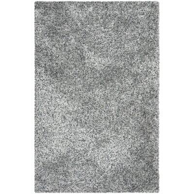 Kenneth Gray/Black Shag Area Rug Rug Size: 5 x 8