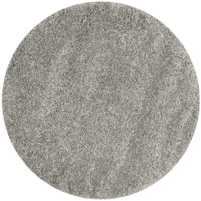 Jonathan Shag Silver Area Rug Rug Size: Round 4