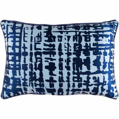 Mack Lumbar Pillow Color: Cobalt/Slate