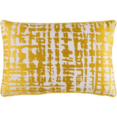 Mack Down Lumbar Pillow Color: Gold/Ivory