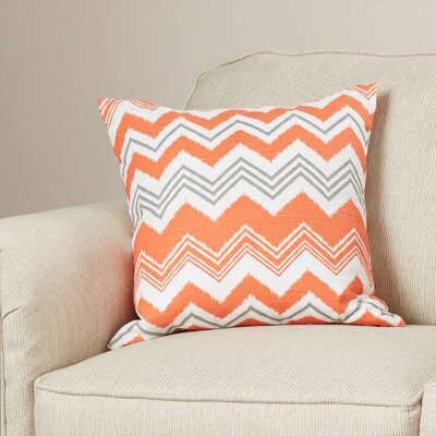 Coldwell Zigzag Cotton Throw Pillow Color: Orange, Size: 24 x 24