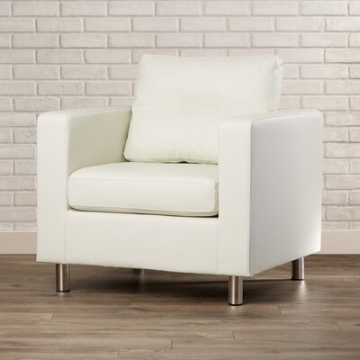 Clarence Arm Chair Upholstery: White