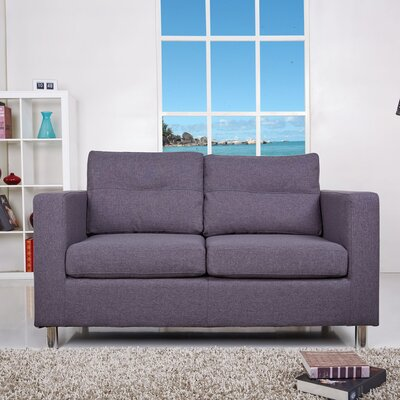 Clarence Loveseat Upholstery: Dark Gray