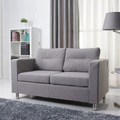 Clarence Loveseat Upholstery: Ash
