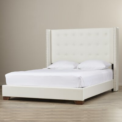 Arno Upholstered Panel Bed Size: King