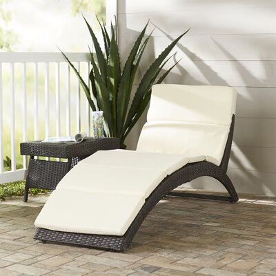 Wade Logan Johnathan Chaise Lounge with Cushion