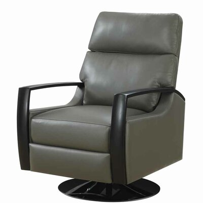 Deerfield Leather Recliner Upholstery: Gray