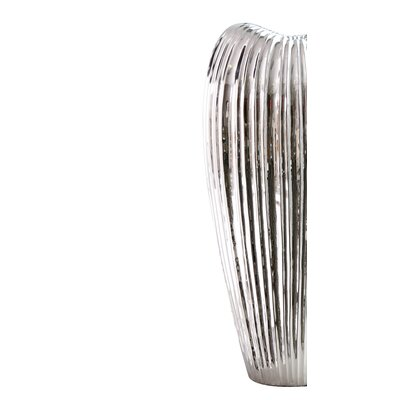 Ribbed Electroplated Ceramic Vase WADL4789 28204307