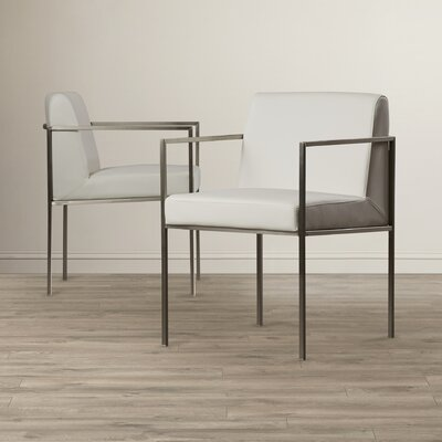 Lowery Arm Chair Color: White