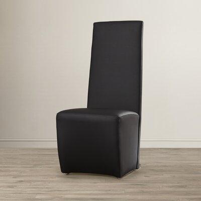 Eisner Upholstered Side Chair Upholstery: Black