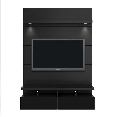 Julius Entertainment Center Finish: Black Gloss / Black Matte