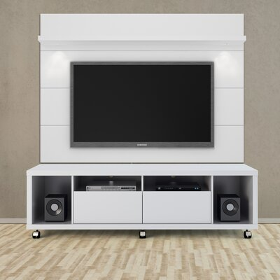 Julius 71 TV Stand Color: White Gloss