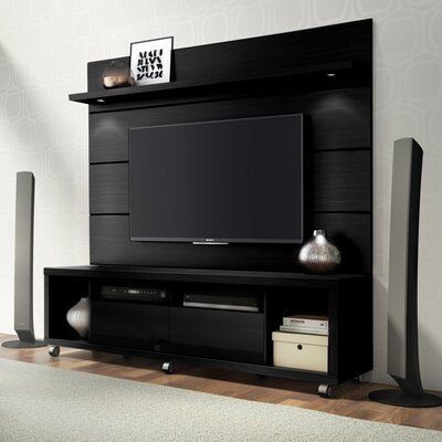 Julius 71 TV Stand Color: Black Gloss / Black Matte