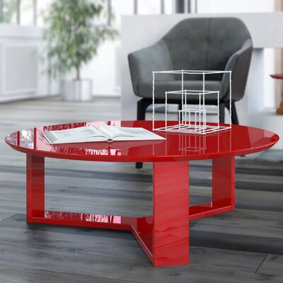 Emiliah Coffee Table Color: Red