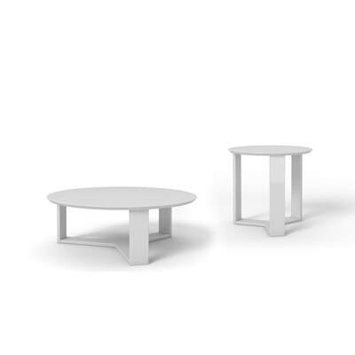 Emiliah 2 Piece Coffee Table Set Finish: White Gloss