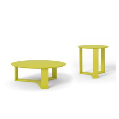 Emiliah 2 Piece Coffee Table Set Finish: Yellow