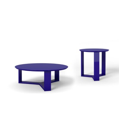 Gabriel 2 Piece Coffee Table Set Finish: Midnight Blue