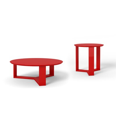 Emiliah 2 Piece Coffee Table Set Finish: Red