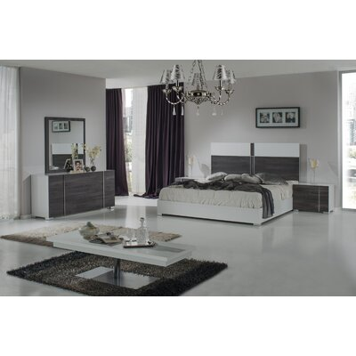 Wesley Platform Bed Size: King, Finish: White / Grey