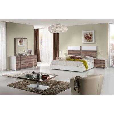 Wesley Platform Bed Size: King, Finish: White / Cherry