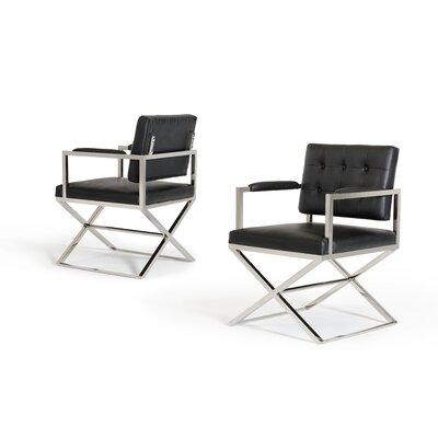 Wesley Spielberg Arm Chair Upholstery: Black