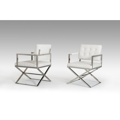 Wesley Spielberg Arm Chair Upholstery: White