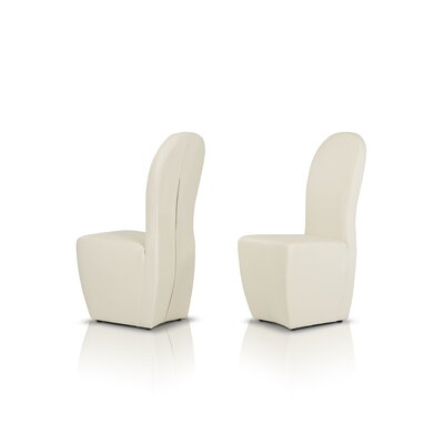 Wesley Side Chair Upholstery: White