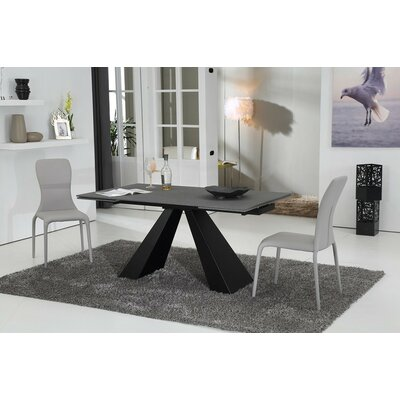 Clower Extendable Glass Top Dining Table