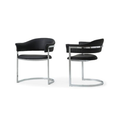 Wesley Allie Contemporary Arm Chair Upholstery: Black