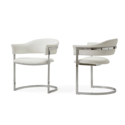 Wesley Allie Contemporary Arm Chair Upholstery: White