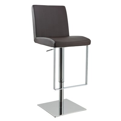 Clower Contemporary Adjustable Height Swivel Bar Stool