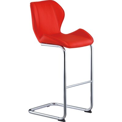26 inch Bar Stool Upholstery: Red