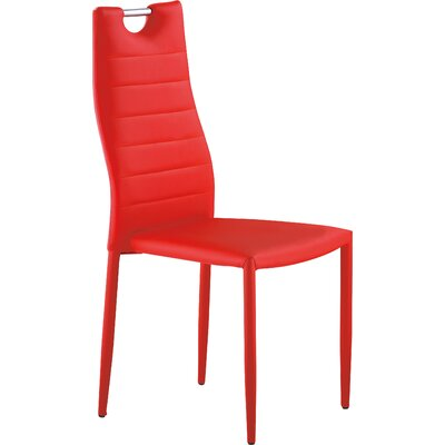 Ema Side Chair Finish: Red