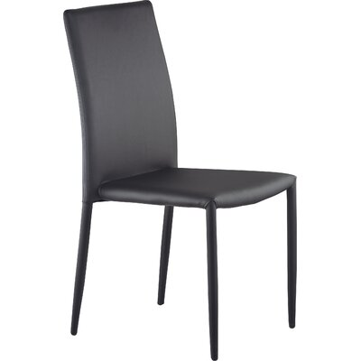 Villa Side Chair Upholstery: Black