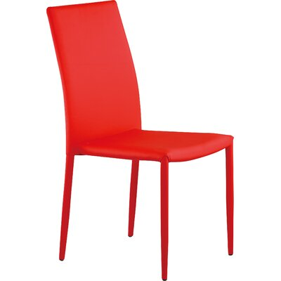 Villa Side Chair Upholstery: Red