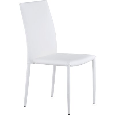 Villa Side Chair Upholstery: White