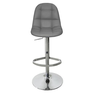 Artiaga Adjustable Height Bar Stool Upholstery: Gray