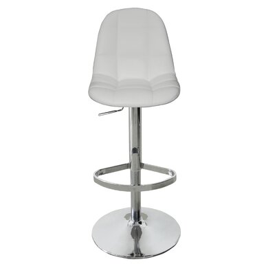 Artiaga Adjustable Height Bar Stool Upholstery: White