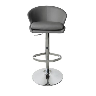 Bartholdi Adjustable Height Bar Stool Upholstery: Gray