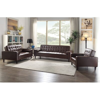 Derek Faux Leather Armchair Upholstery: Brown