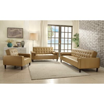 Derek Faux Leather Armchair Upholstery: Tan
