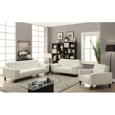 Derek Faux Leather Armchair Upholstery: White