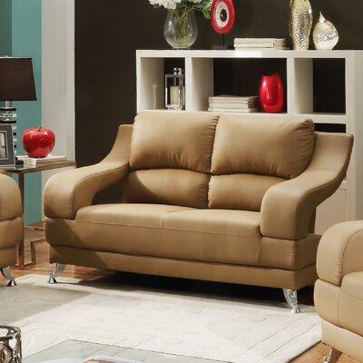 Terence Loveseat Upholstery: Tan