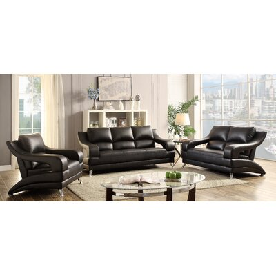 Terence Loveseat Upholstery: Black