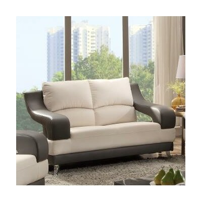 Palice Loveseat Upholstery: White Seat/Gray Arms