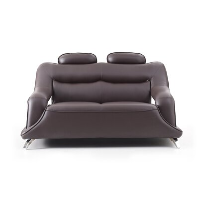 Lamour Loveseat Upholstery: Cappucino Faux Leather