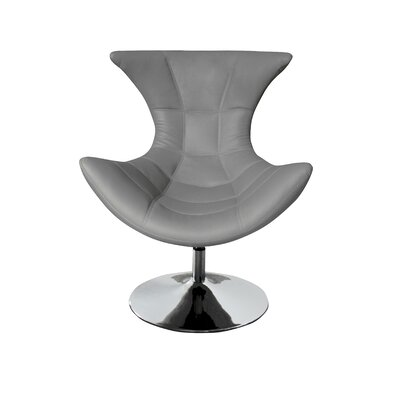 Campos Swivel Lounge Chair Upholstery: Gray