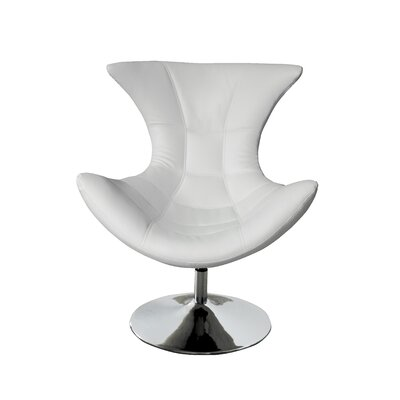 Campos Swivel Lounge Chair Upholstery: White