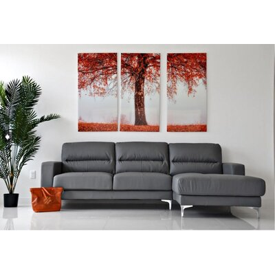 Bauch Sectional Upholstery: Gray